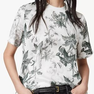 All Saints Trace Evolution Top Short Sleeve Small